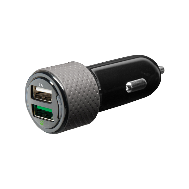qUALCOMM QUICK CHARGE 3.0, 3.4 aMP DUAL OUTPUT CAR CHARGER