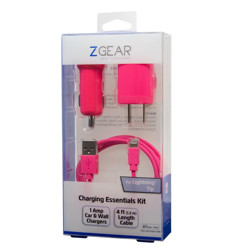 3 piece Apple 8-pin mfi charging essentials kit