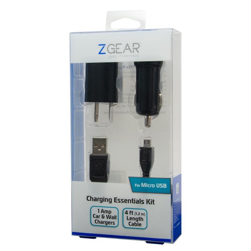 3 piece MICRO USB charging essentials kit