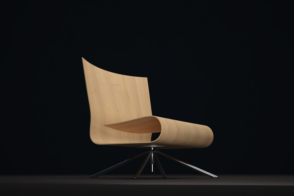 HOB Sessel so wie er sein sollte – dünne Formholzschale mit Sichtfurnier
