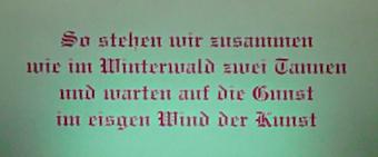 """""""Unser Glück"""" 2004/05, Lichtkasteninstallation 3 x 4 m;"""