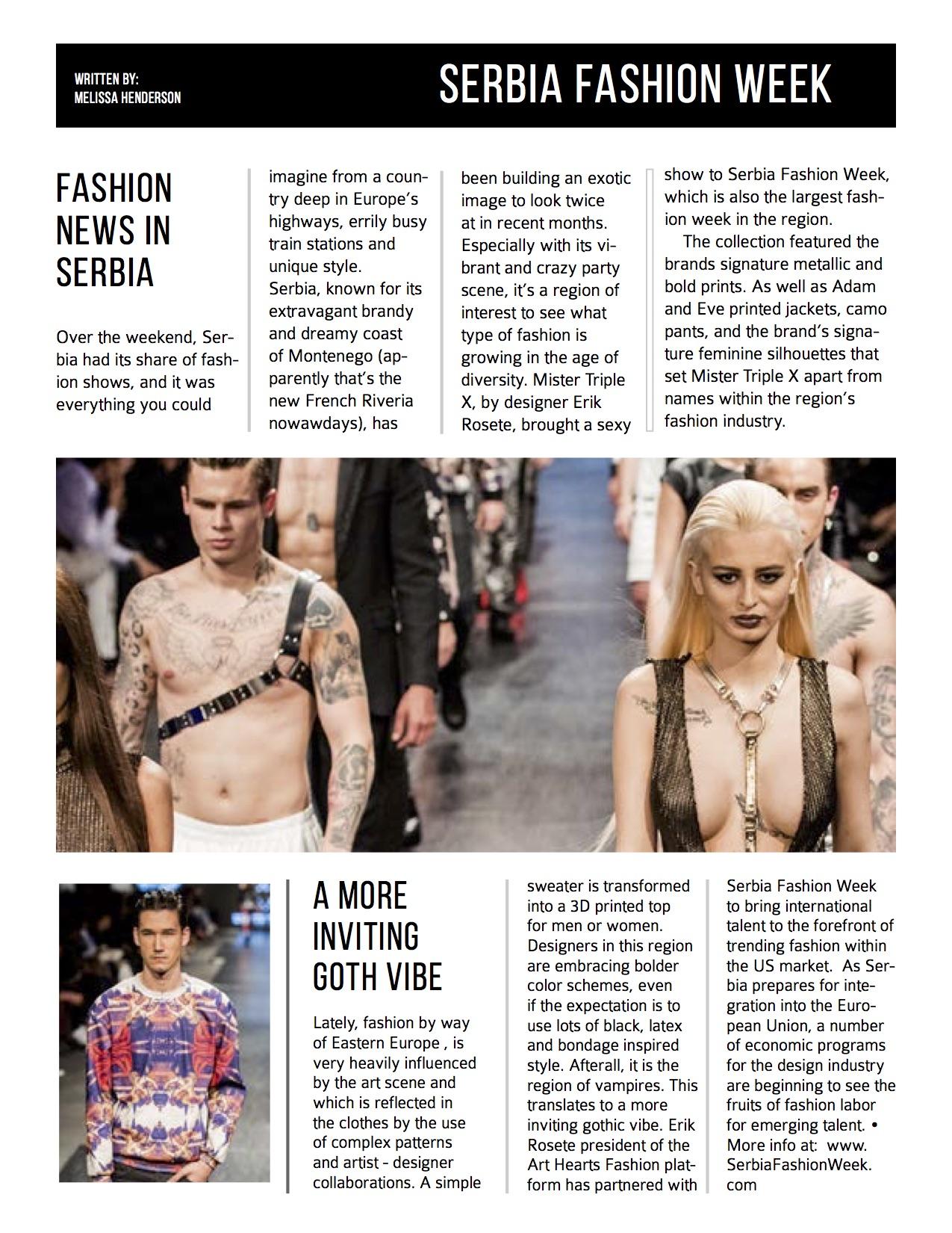 Photo Credit: Serbia Fashion Week