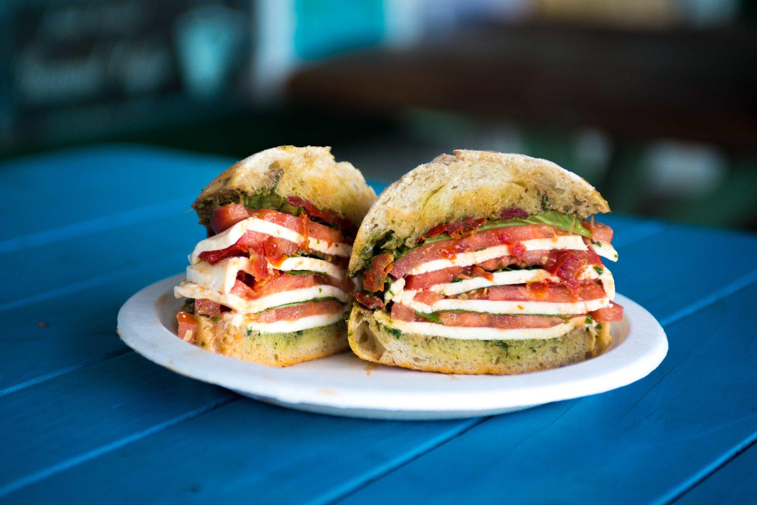 Four-layer Caprese Sandwich