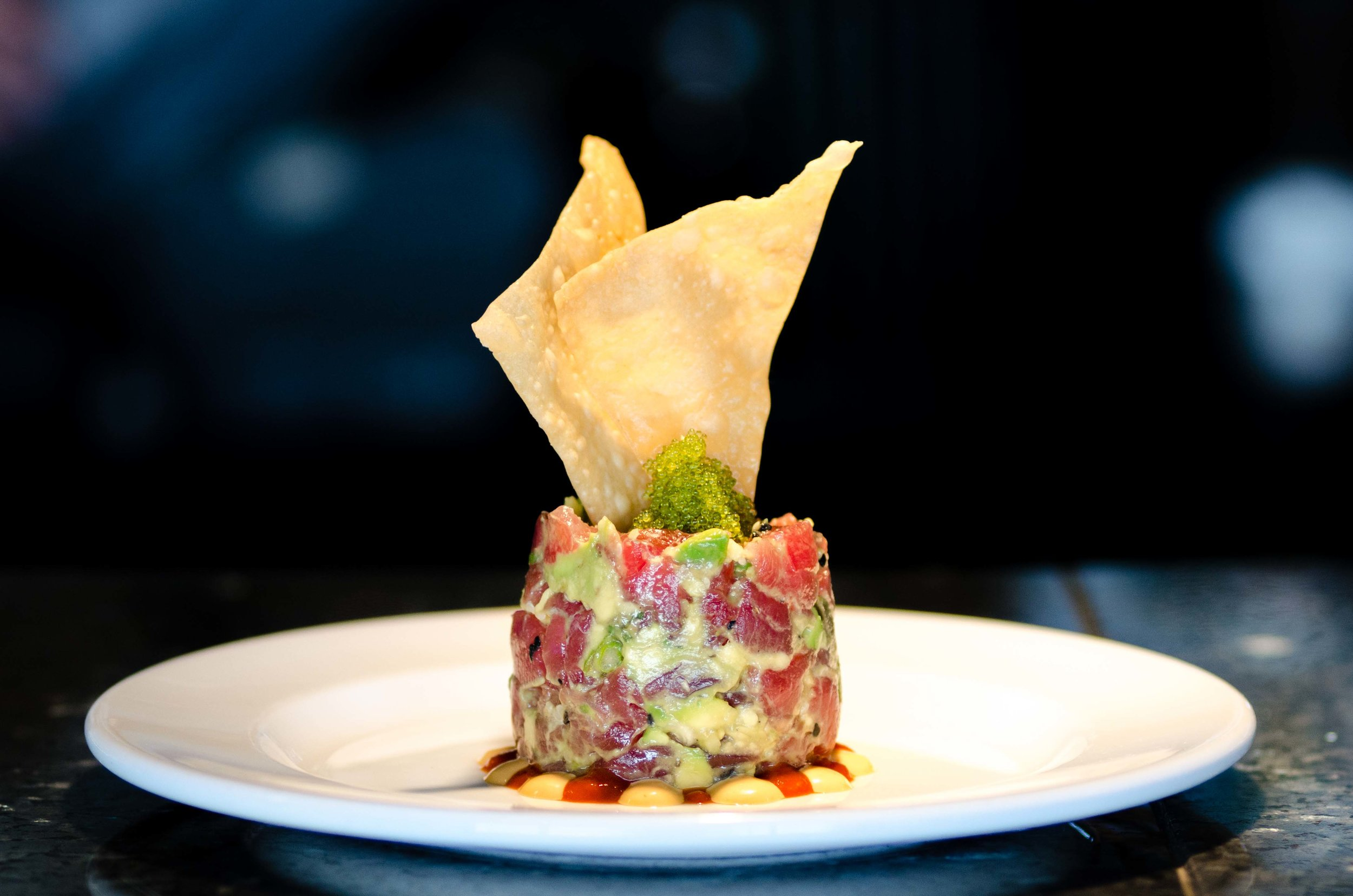 Ahi Tuna Tartare with Avocado and Roe