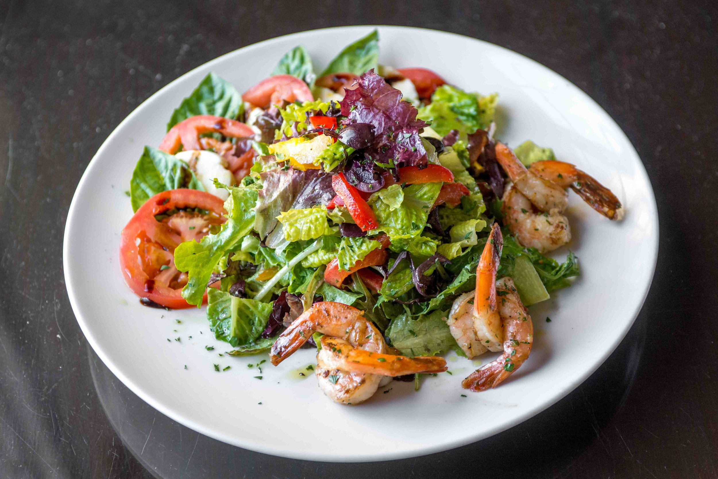 Grilled Shrimp Salad with Balsamic Vinaigrette