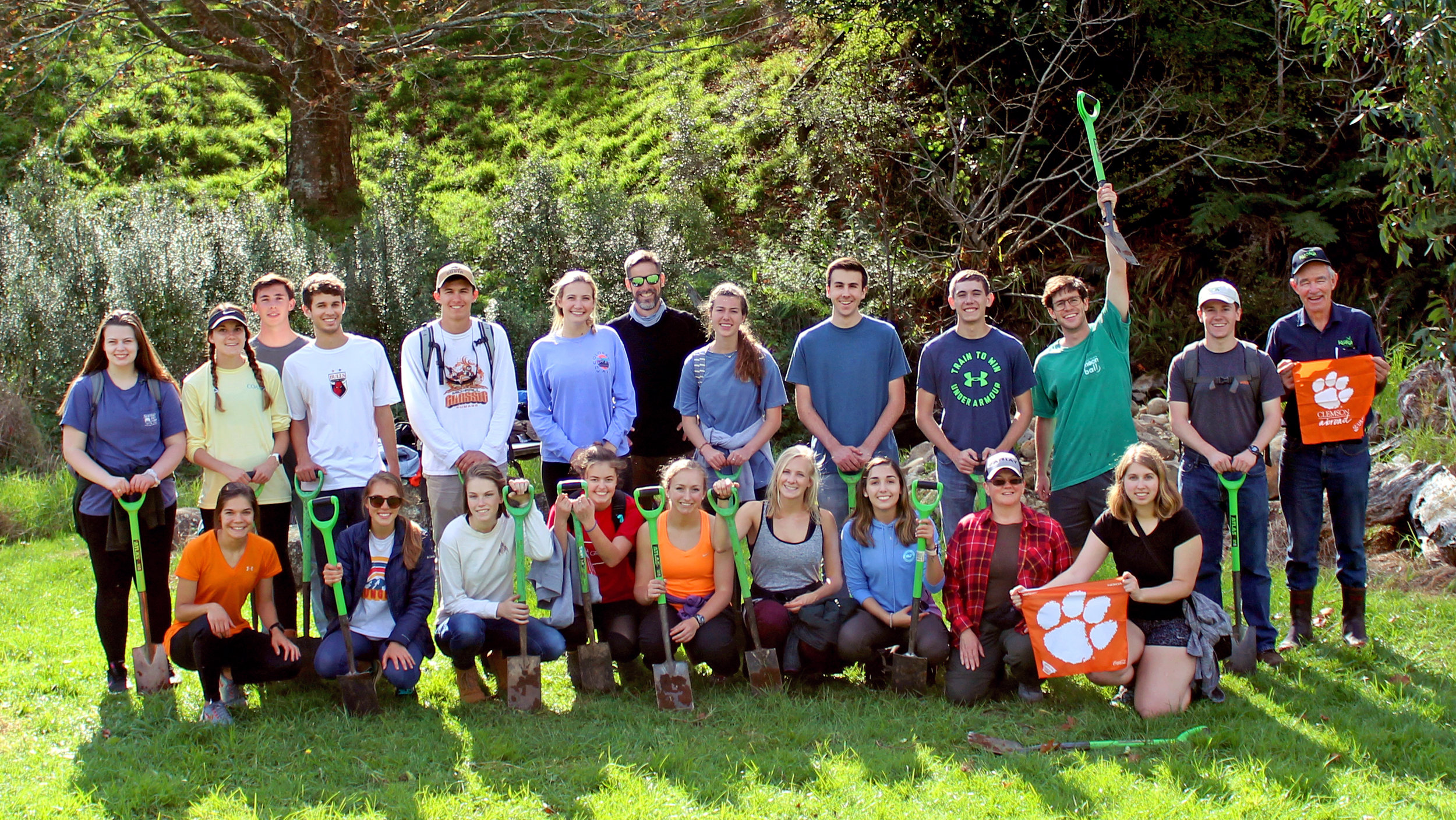 CLEMSON UNIVERSITY - SERVICE LEARNING & SUSTAINABILITY PROGRAM 2019   This program explores the interdisciplinary & complex relationship between humans and the environment. Students examine ecological restoration & resource conservation, while participating in long-term restoration projects & community outreach. '   Gallery