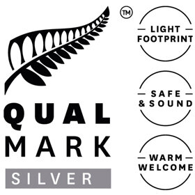 Qualmark  (Tourism Standards Authority)  Sustainable Tourism Business Silver Award   We are nationally recognized for continuously improving our economic, social & environmental performance. Alongside a government health & safety system audit. Ensuring we deliver a genuine, constantly improving sustainable experience.