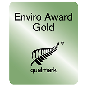 Qualmark  (Tourism Standards Authority)  Enviro Gold Award  2013 - 2017  We achieved the highest possible Qualmark enviro-standard. Nationally recognizing us for exceeding the highest levels of environmental & social responsibility in all aspects of our operation.