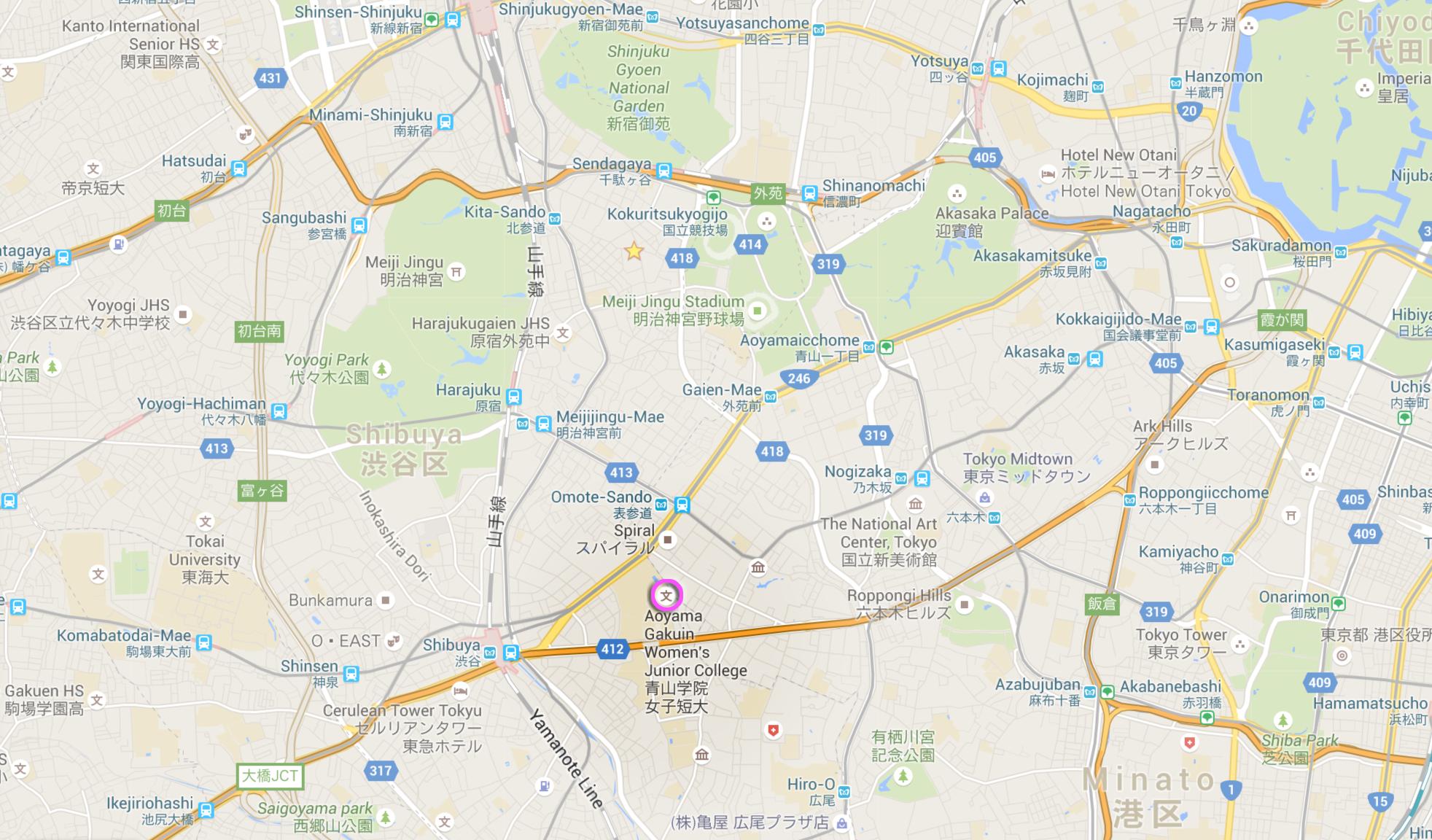 Shibuya Map