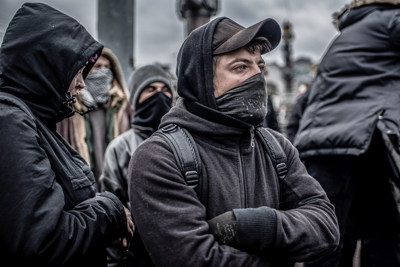 Protesters of an extremist movement | Photo by Joris van Gennip