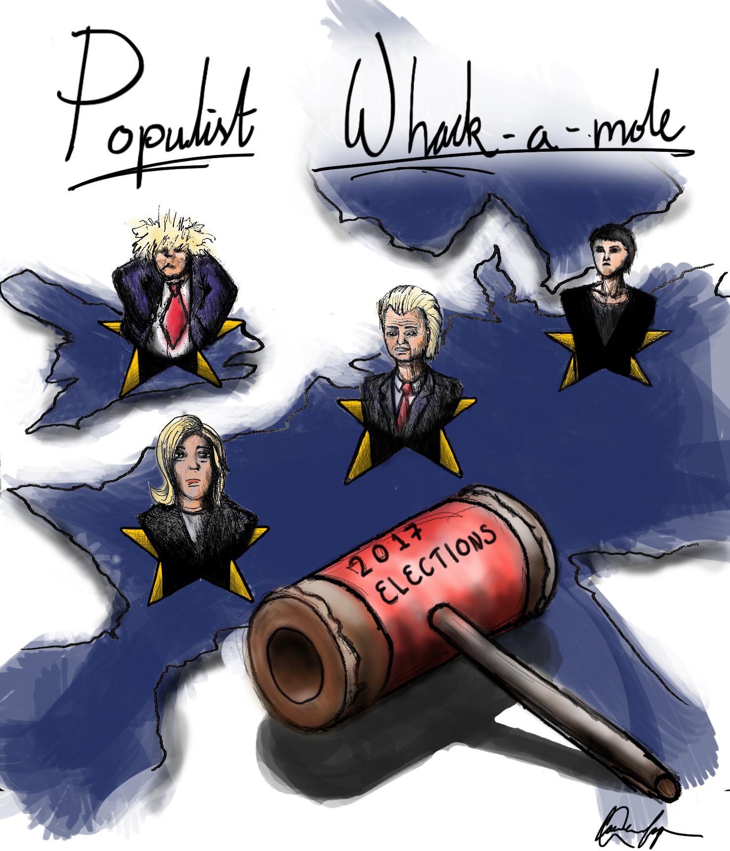 Populist Whack-a-Mole     Eirôn      by Coen-Reinier Lap
