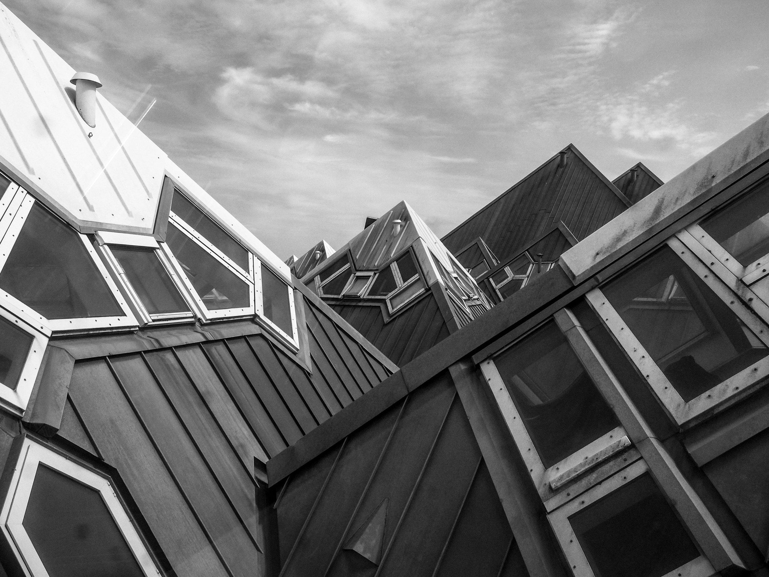 The unique houses near Rotterdam Blaak station.