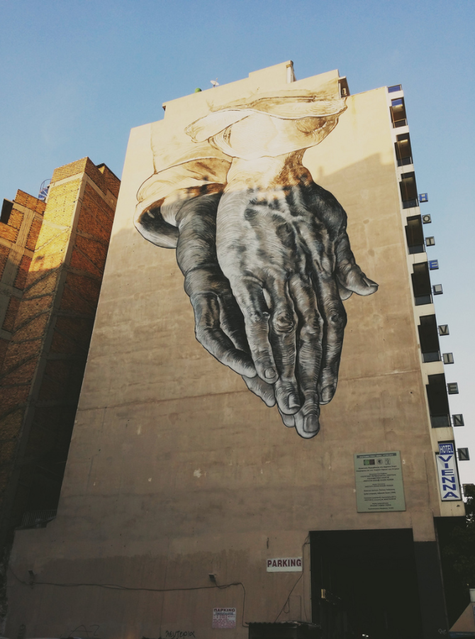 Praying Hands  by a team of ASKT students led by Pavlos Tsakonas