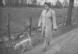 Berta's Oma  with dog Micki