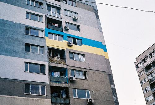 An apartment block near Odessa's seafront promenade.