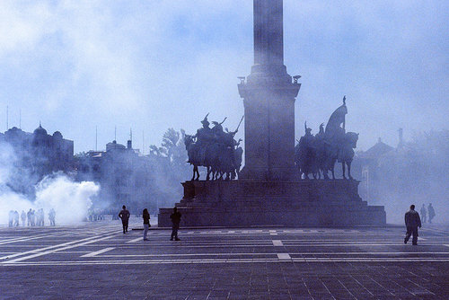 Protest in Budapest  |  photo by    Phillip Kalantzis Cope