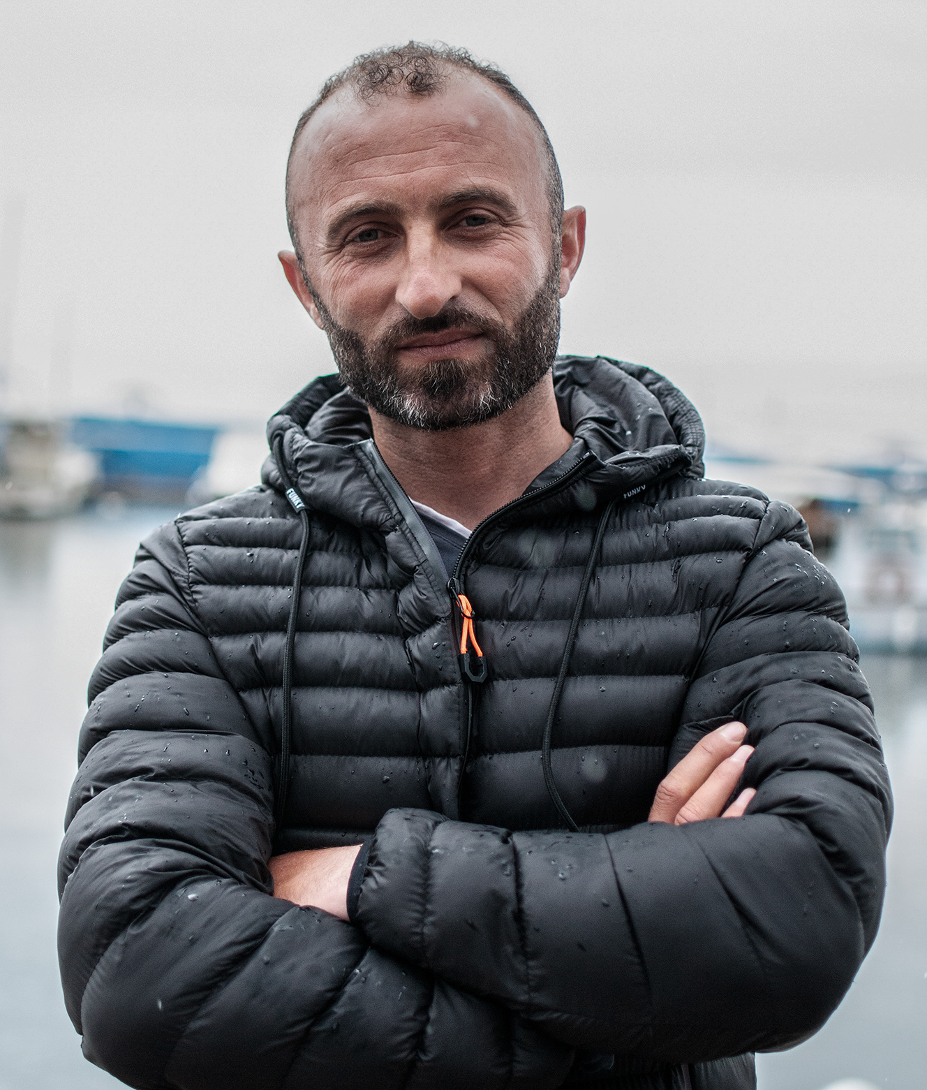 Ervin Xheka, an Albanian-born fisherman who now lives in Greece. Credits: Edges of Europe team