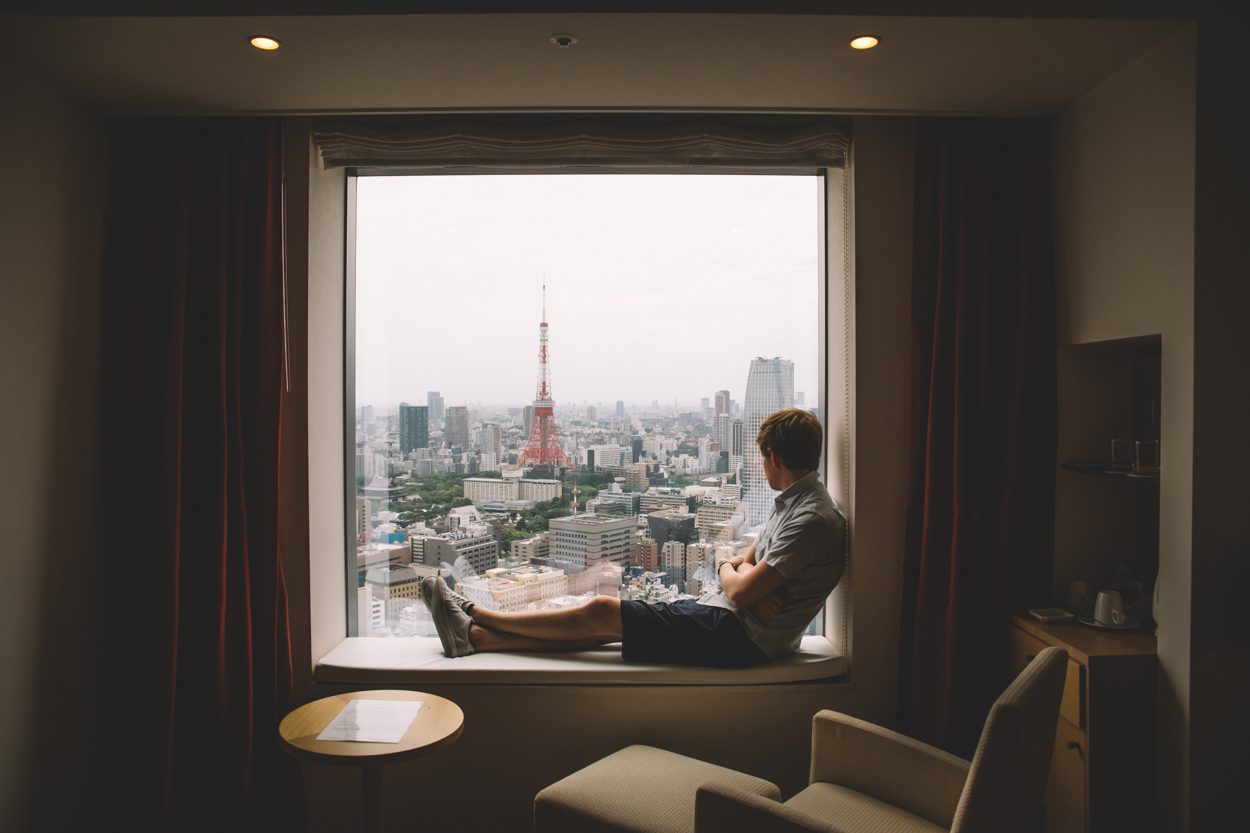 Park Hotel room with the Tokyo Tower view