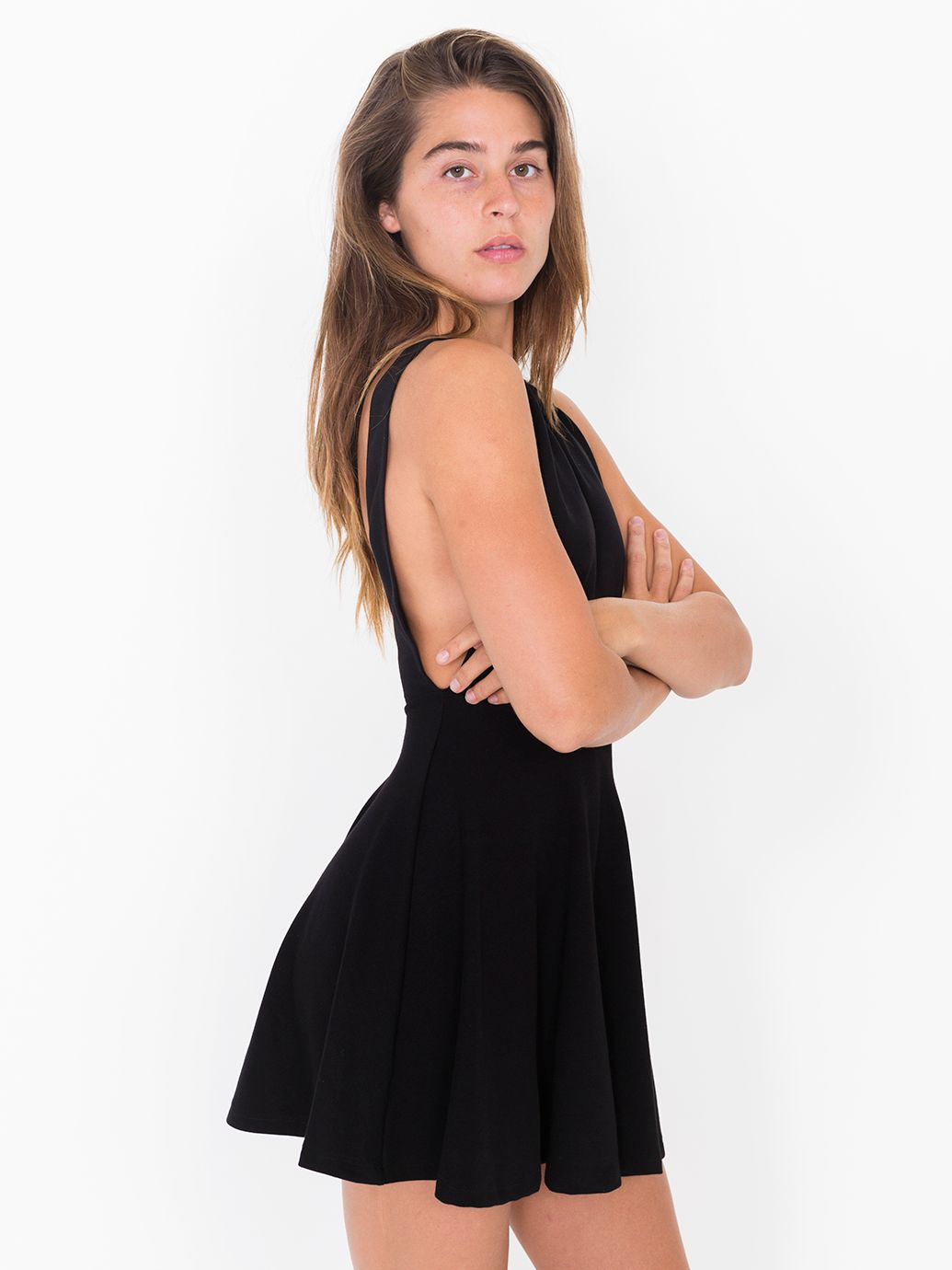 American Apparel Ponte Sleeveless Skater Dress