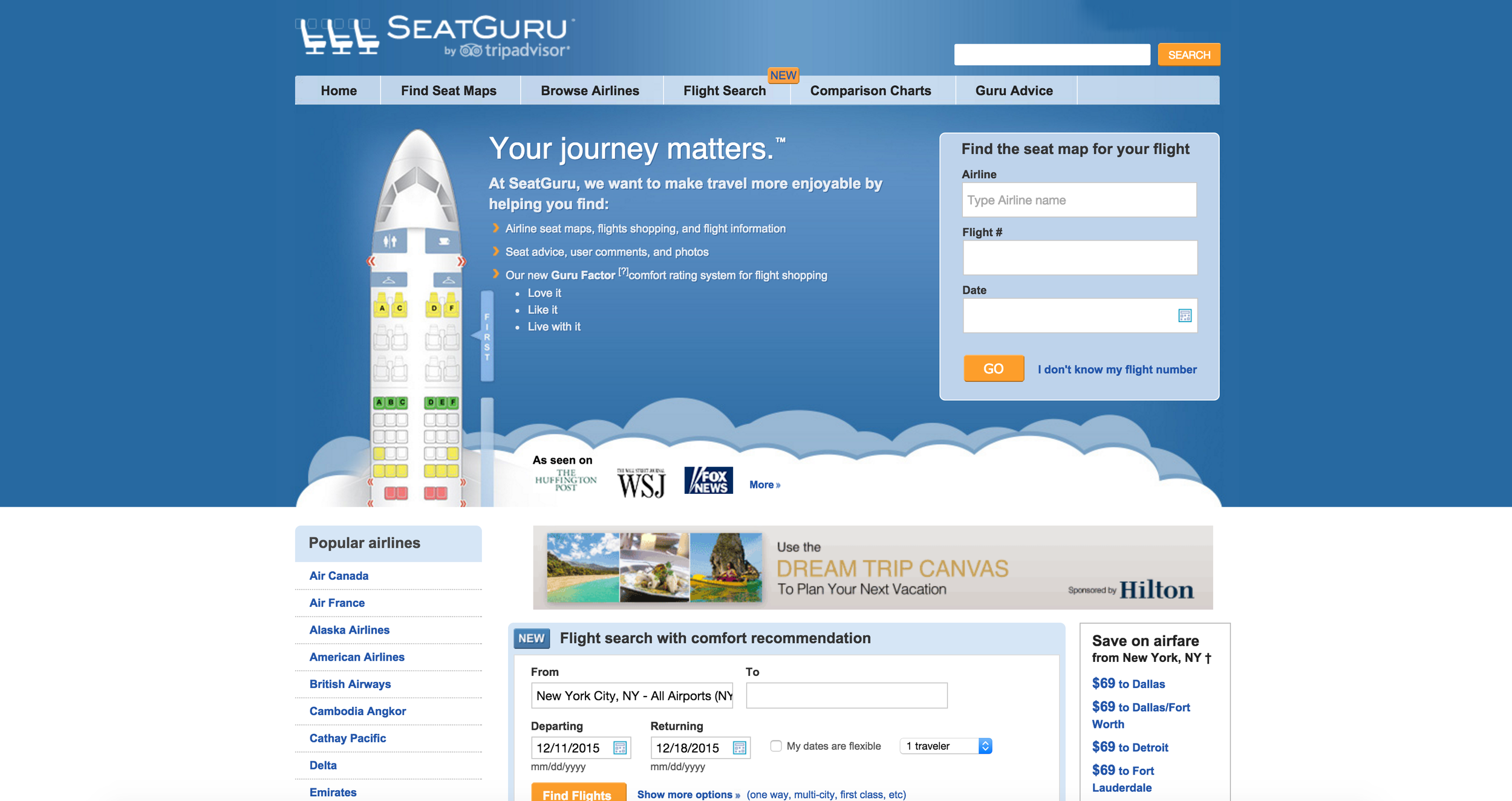 SEAT GURU FLIGHT MAP