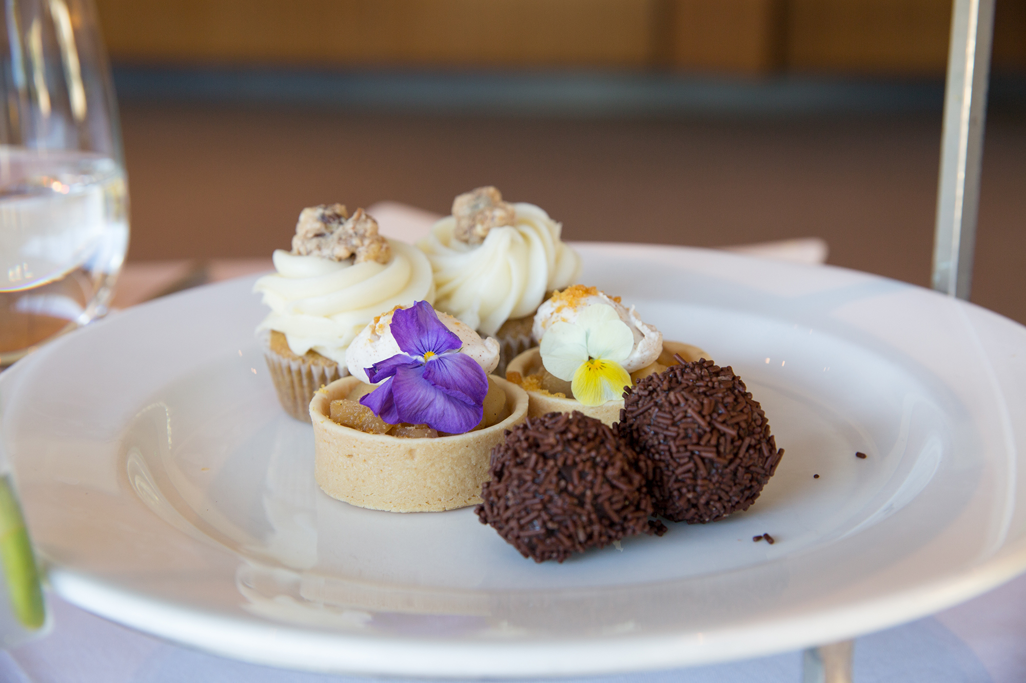 MRS. GARRET'S CARROT CAKE/ SPICED CHOCOLATE TRUFFLE/ APPLE CARAMEL TARTLET