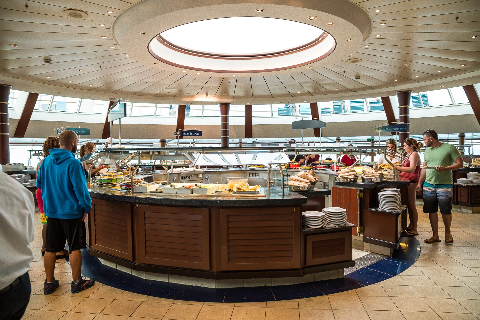Breakfast Buffet at the Windjammer on the Royal Caribbean