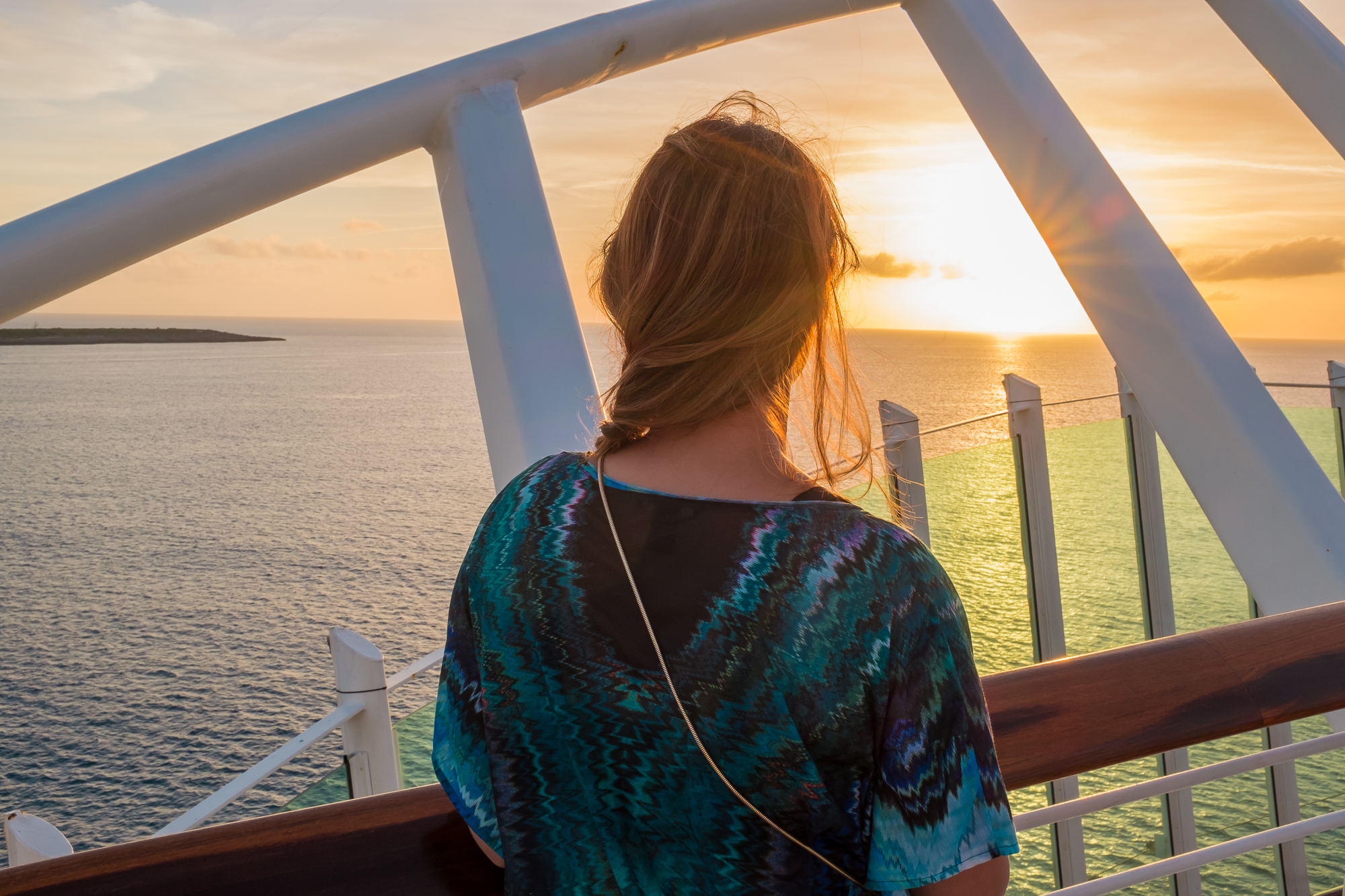VIEWING THE LAST SUNSET ON THE CRUISE