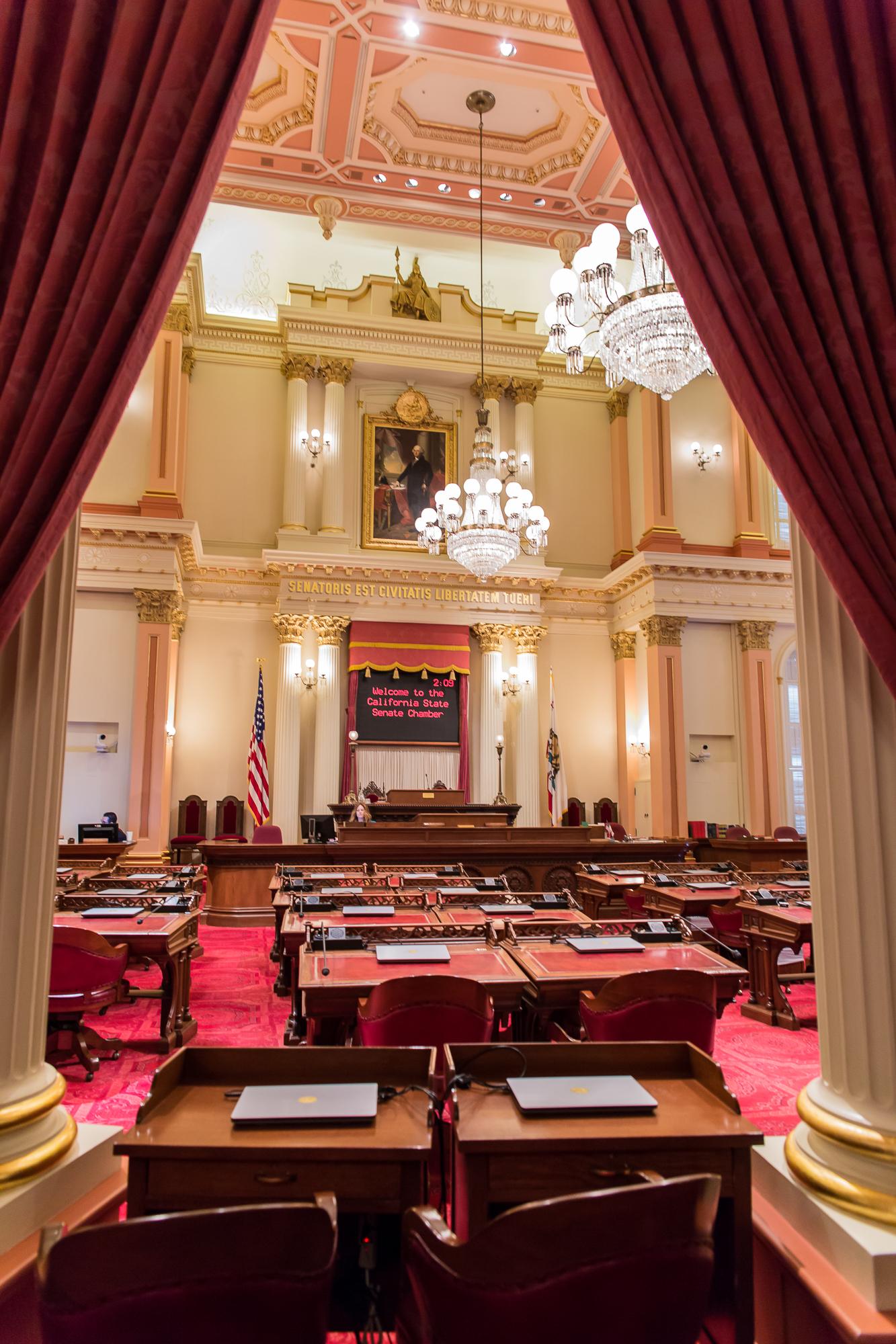 California State Senate - Red represents nobility