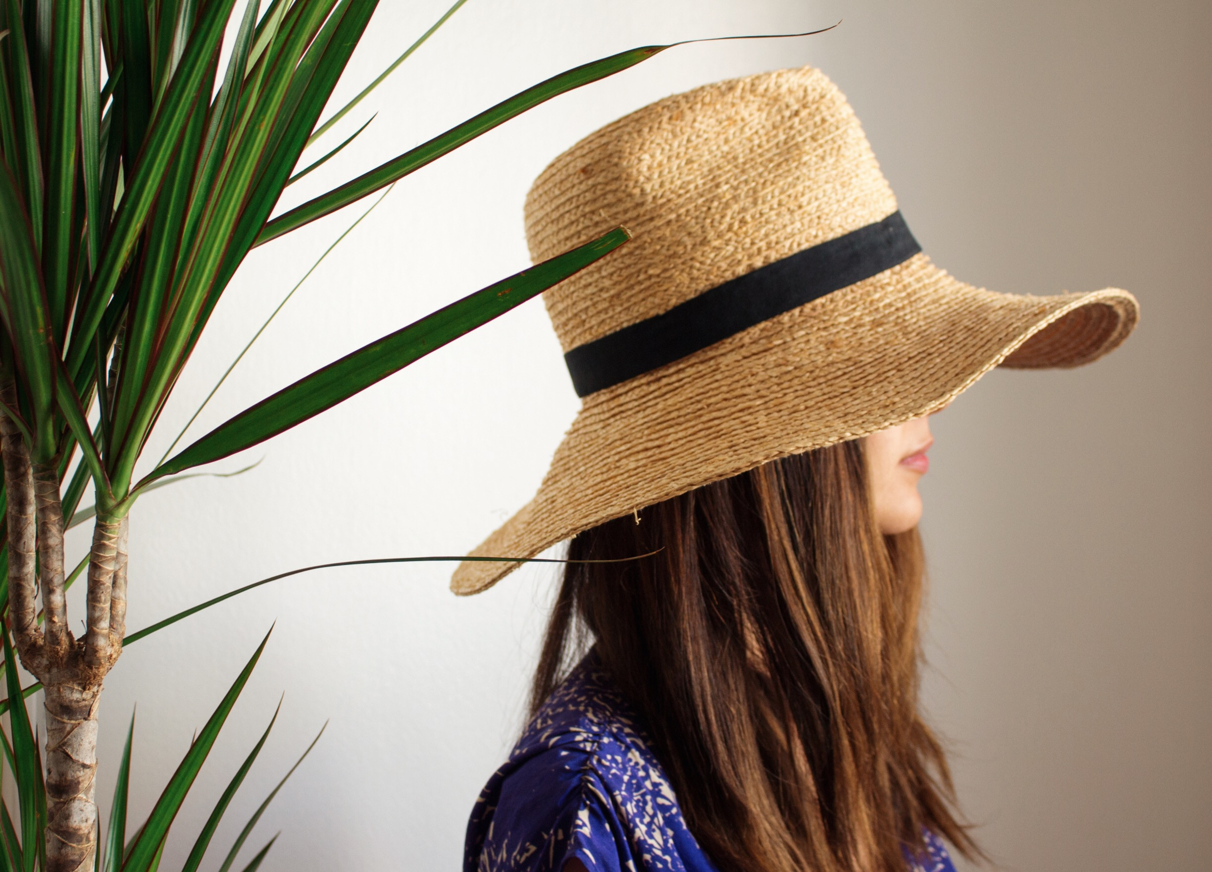 Wide Brim Straw Hat from ASOS