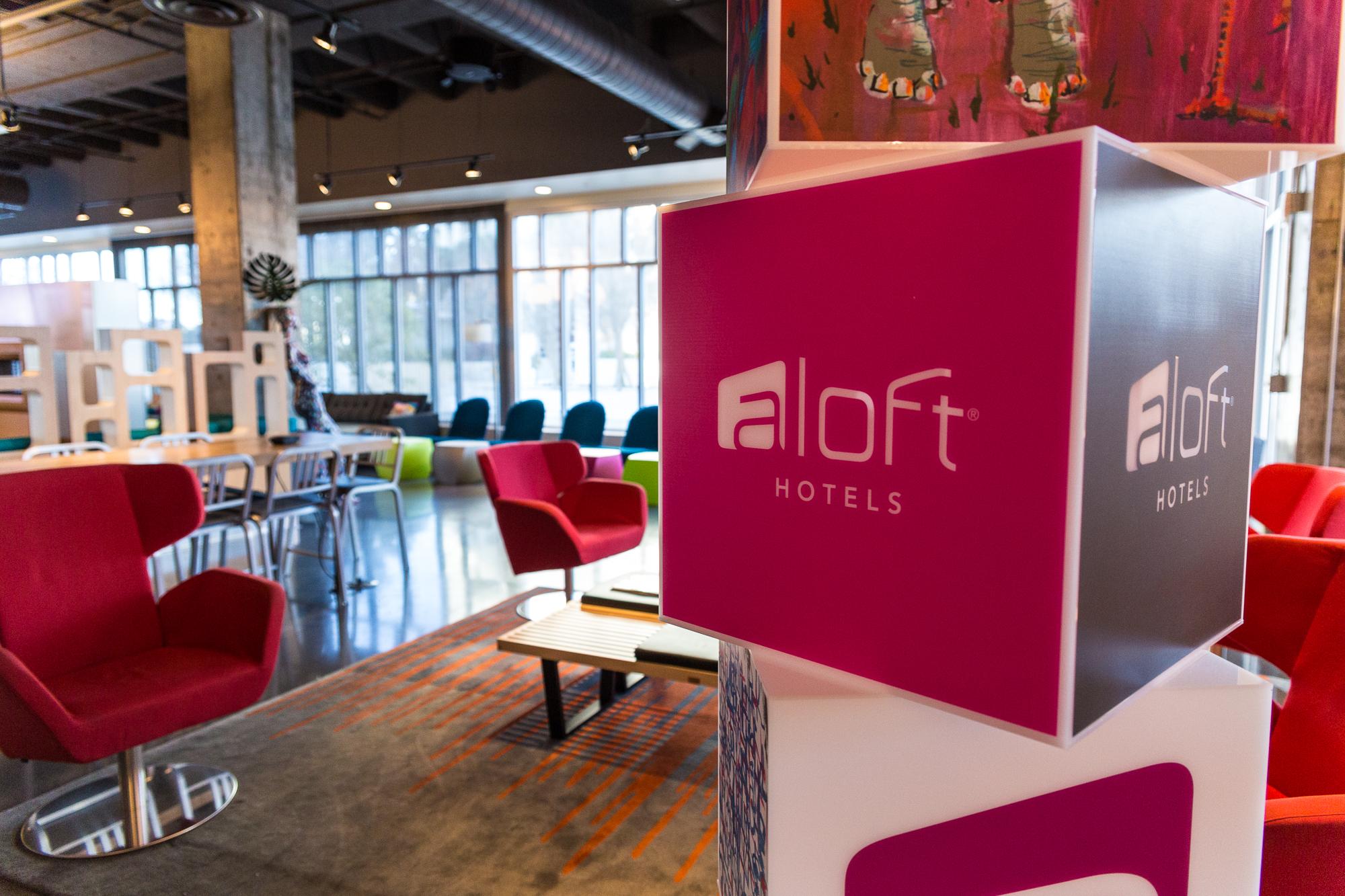 Aloft Hotel Lobby area
