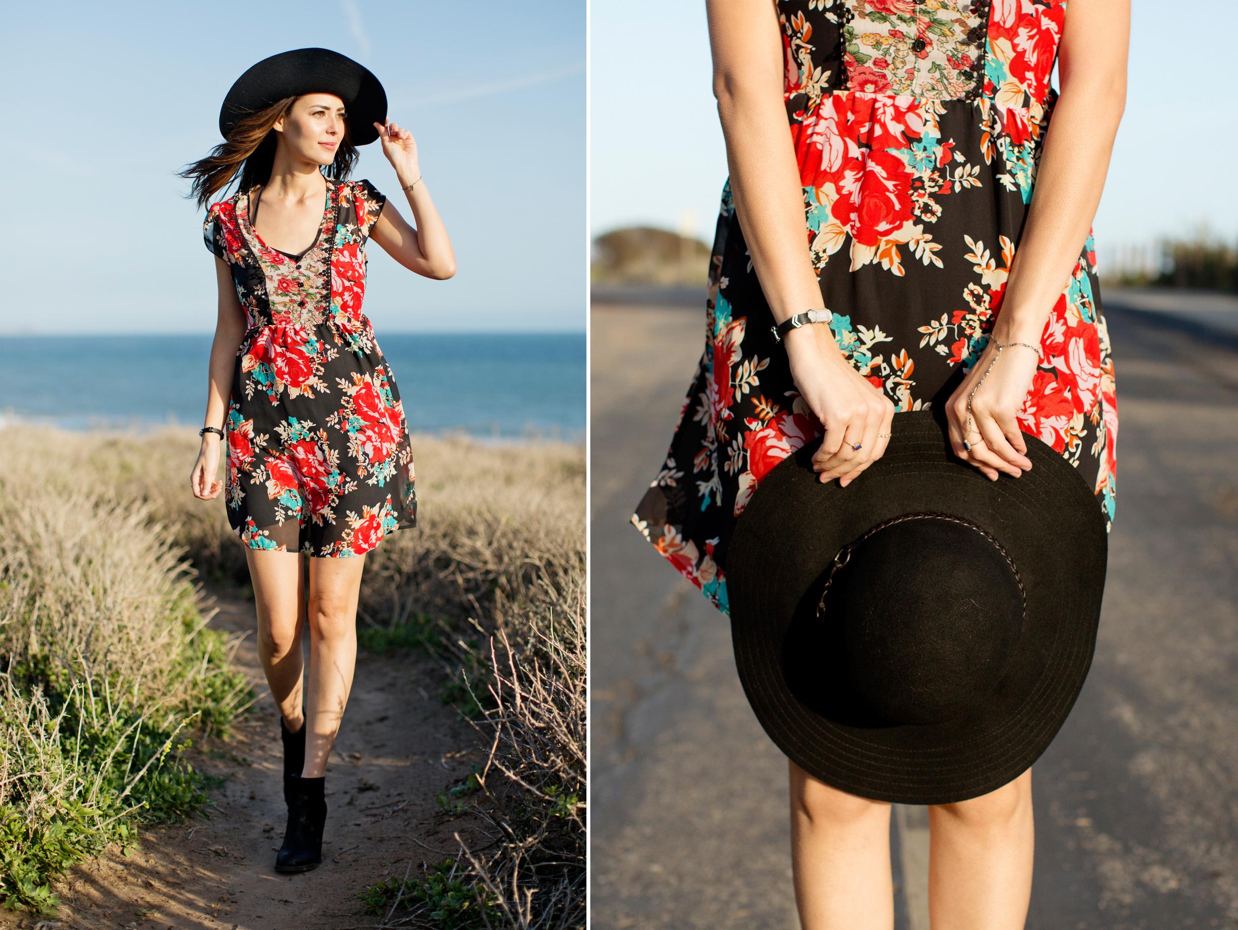 CALIFORNIA MOONRISE flower print DRESS