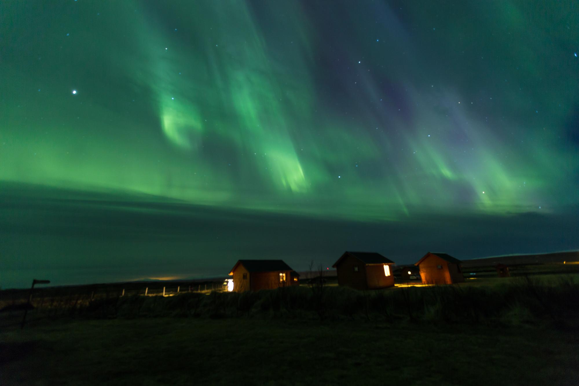 Northern lights in Hvammastagi