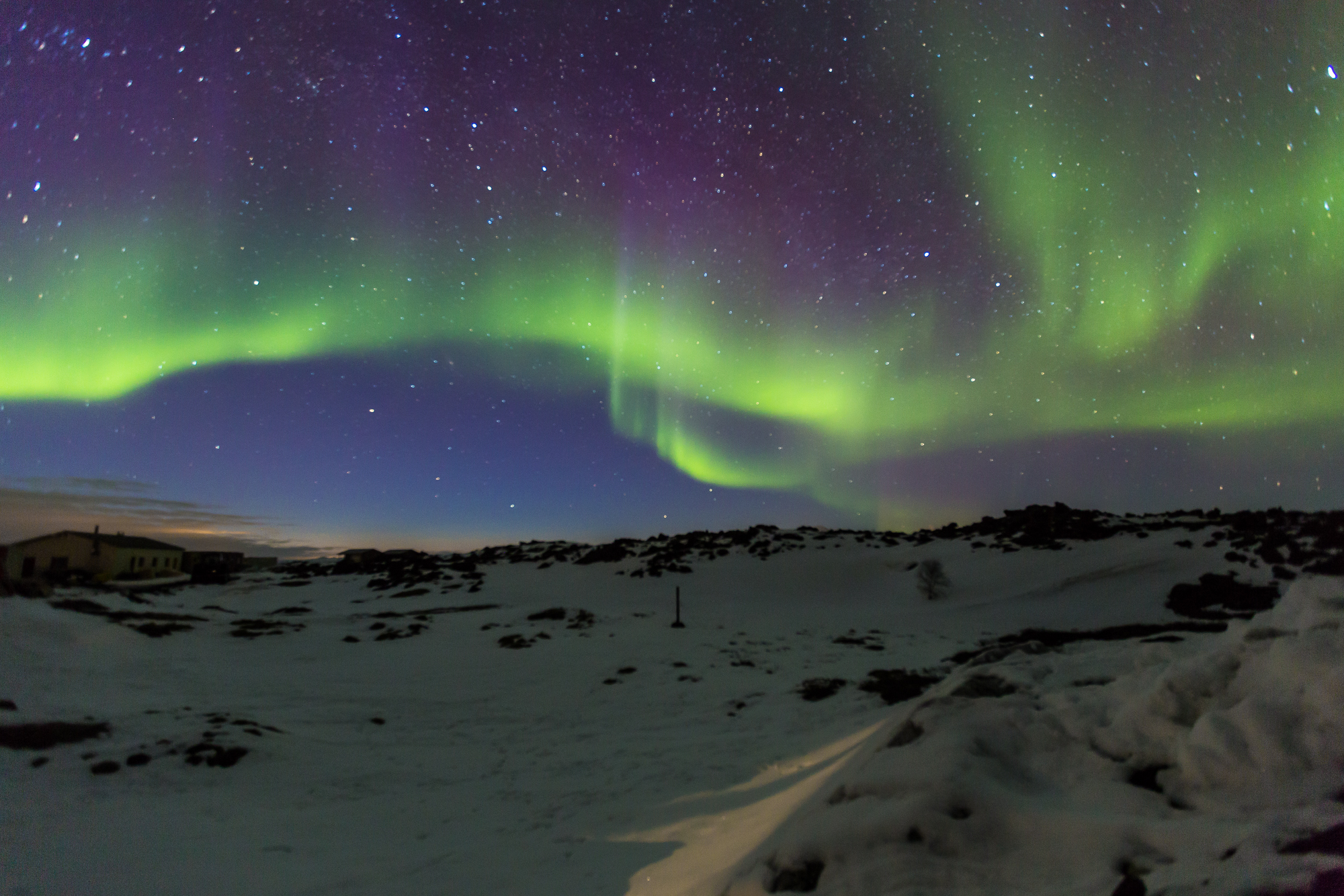 The beautiful colors of the Northern Lights