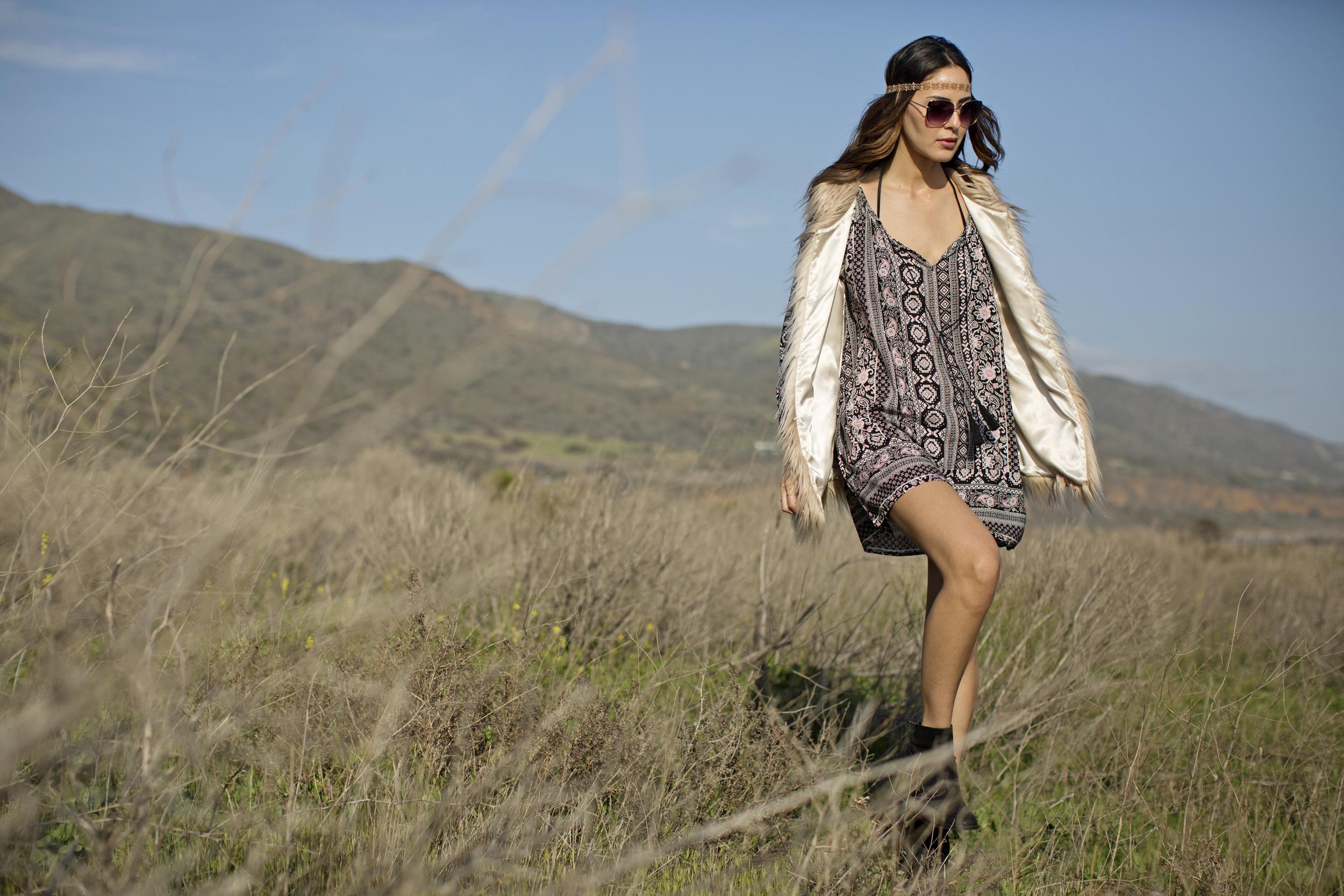 California MoonRise Mandala Tunic Dress