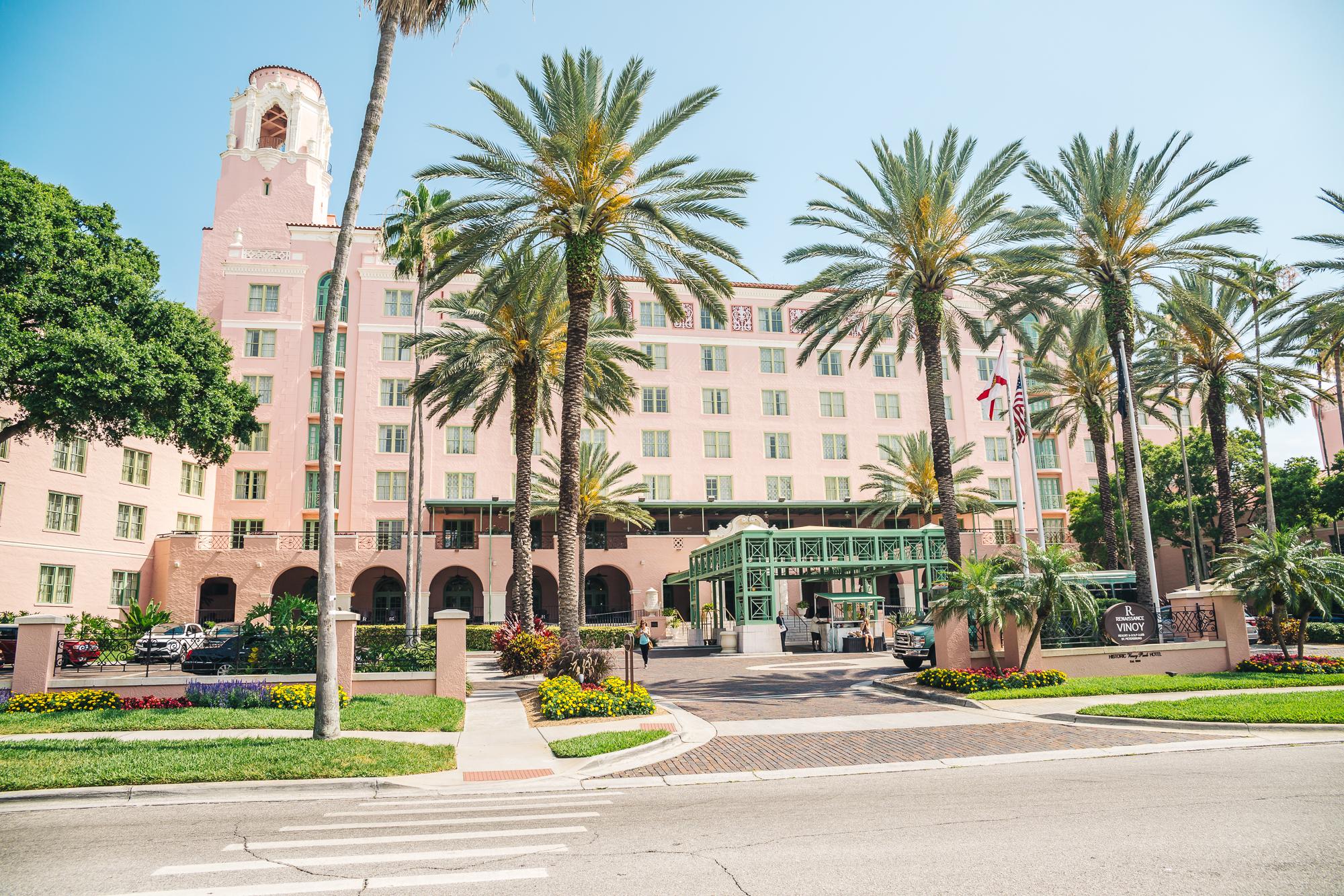 The historic Vinoy Hotel