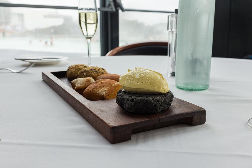 Expensive dinner at Blue Lagoon's Lava restaurant