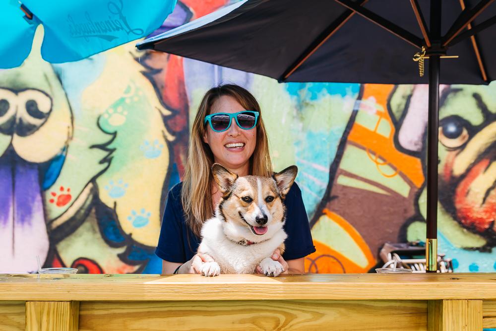 Good times at the Dog Bar with Miss Kuma