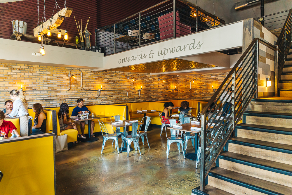 Cask dining area
