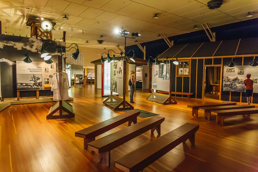 Inside the Manzanar museum