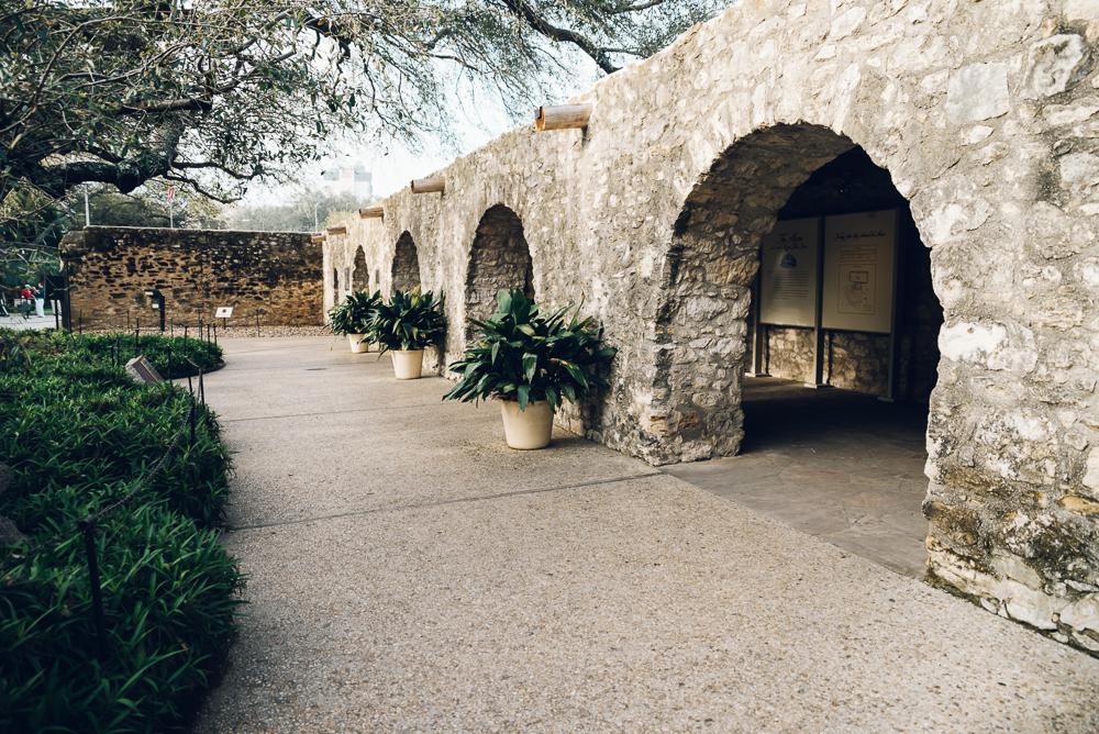 Inside the gates of the Alamo