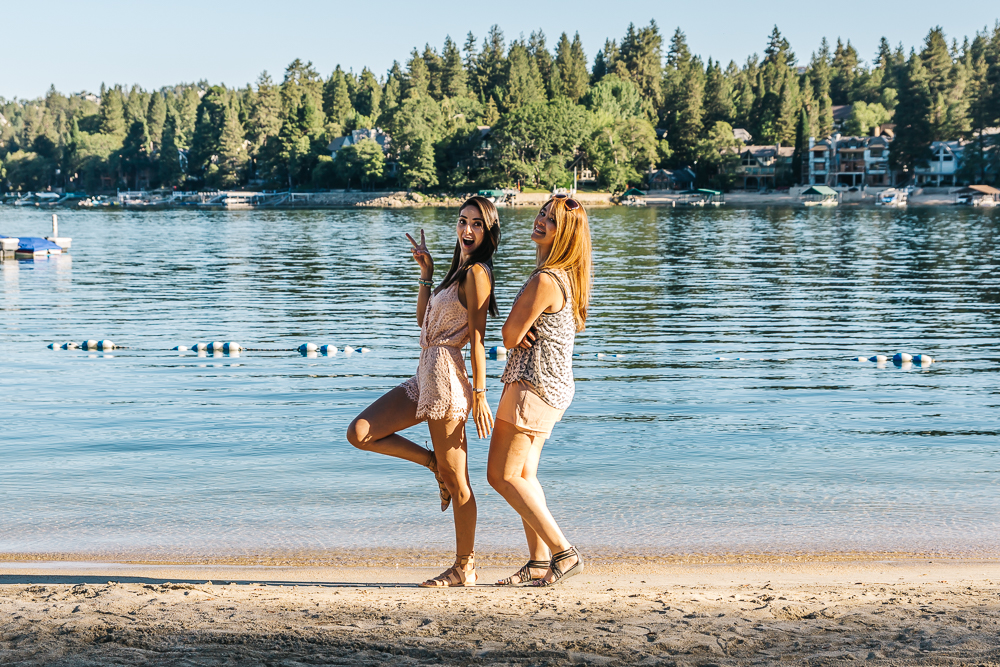Private beach area at Lake Arrowhead Resort
