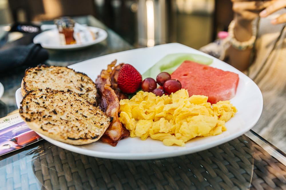 Delicious breakfast at Bin 189