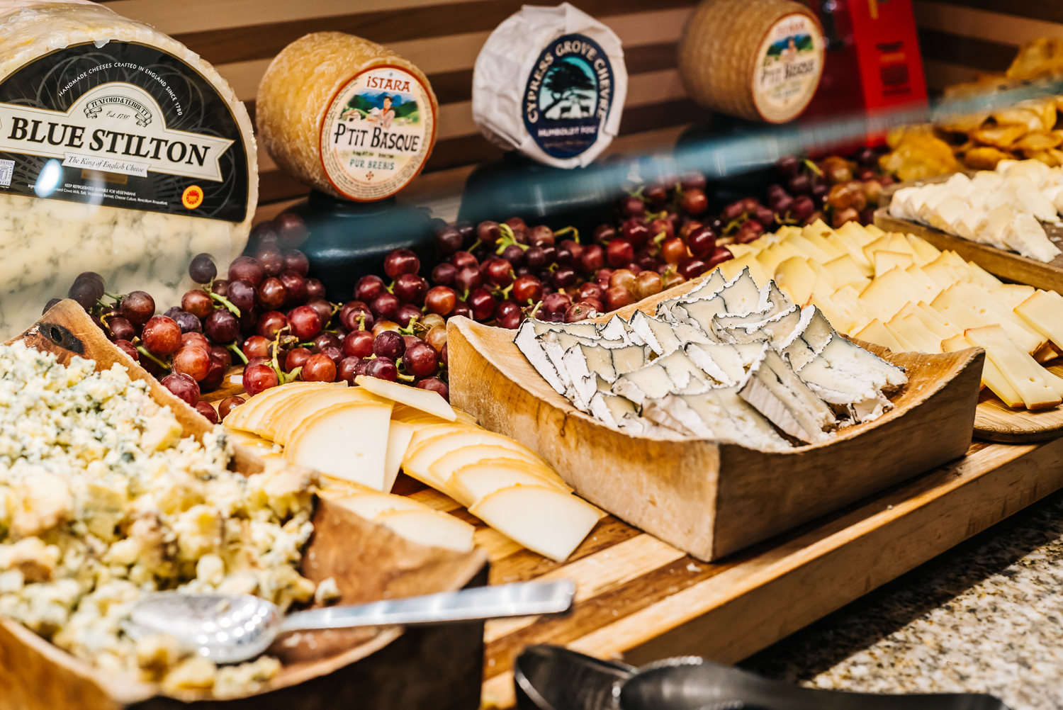 Great selection of high quality cheeses