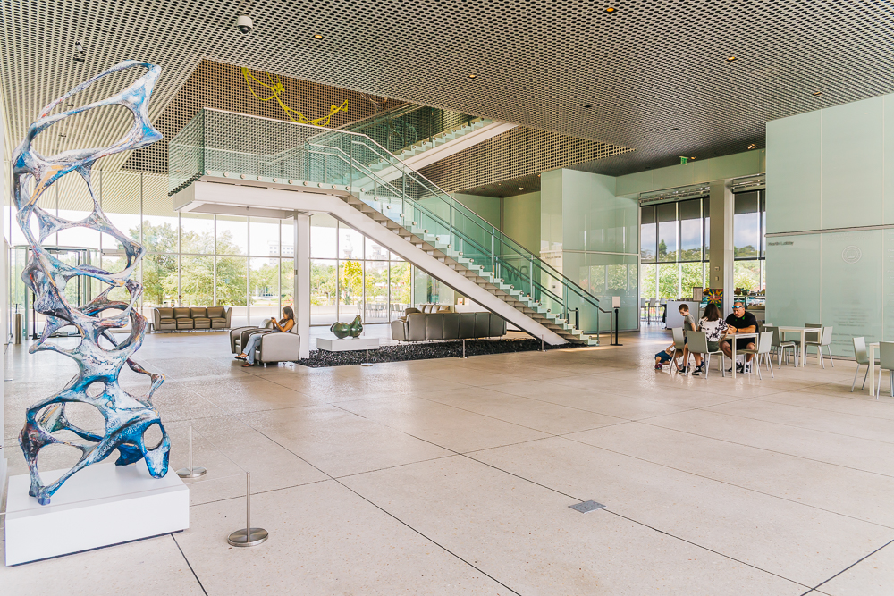 The award-winning building of Tampa Museum of Art