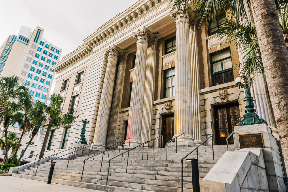 Le Meridien Tampa hotel   used to be a federal courthouse, but even before that, it started out as a post office in 1905