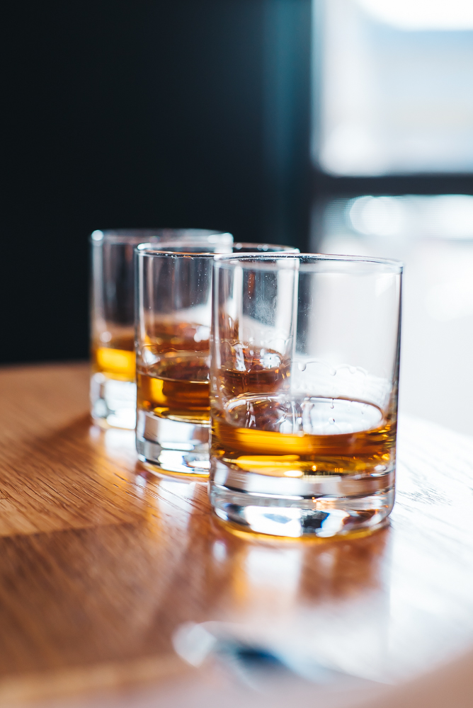 WHISKY FLIGHT | ONE OF CANDY'S FAVORITE IS THE   MICHTER'S SINGLE BARREL STRAIGHT RYE.