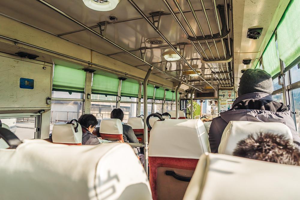 Bus ride to Snow Monkey Park