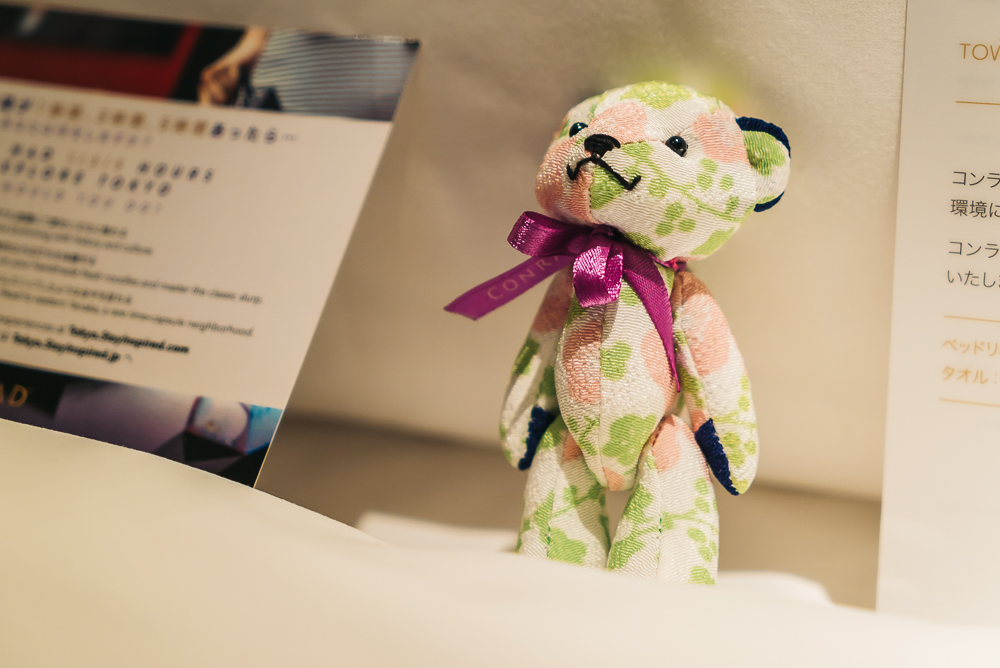 The cutest Conrad bear keychain gift