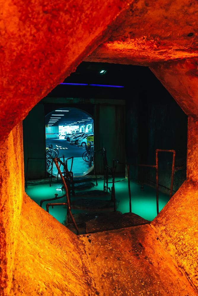 Another creepy entrance into the arcade center