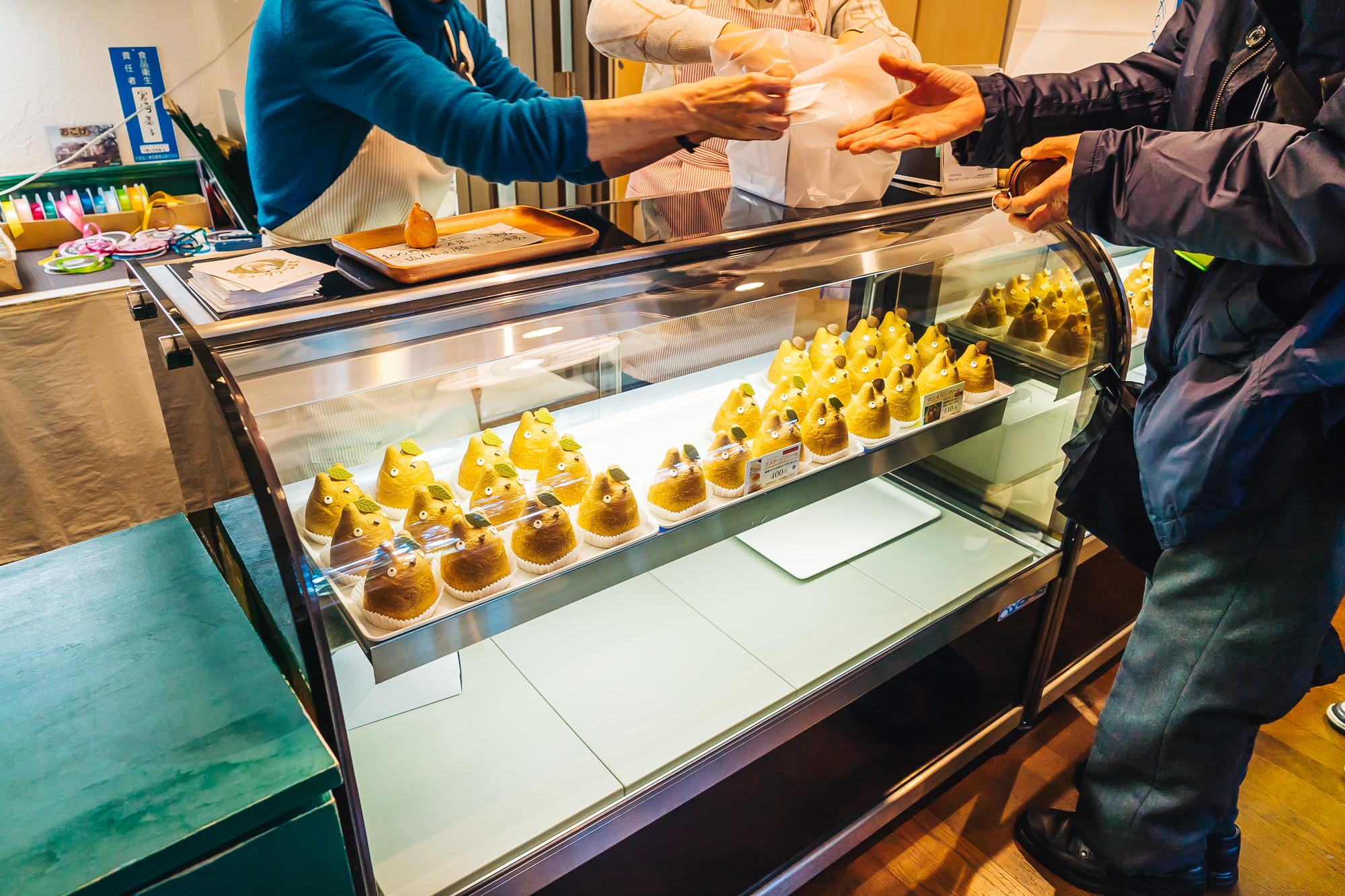 Locals and visitors taking home the cute Totoro cream puffs